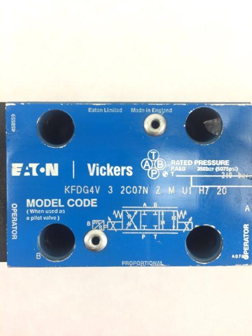 VICKERS KFDG4V 3 2C07N ZMU1H720 REVERSIBLE HYDRAULIC PROPORTIONAL VALVE NEW H29 3