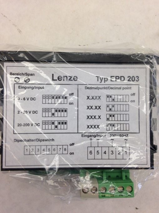 LENZE EPD 203 DISPLAY PANEL (A761) 2