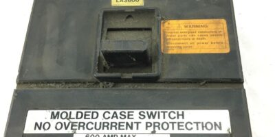 USED CUTLER HAMMER Westinghouse LA3600 3 Pole 600Amp 600Vac CIRCUIT BREAKER B329 1