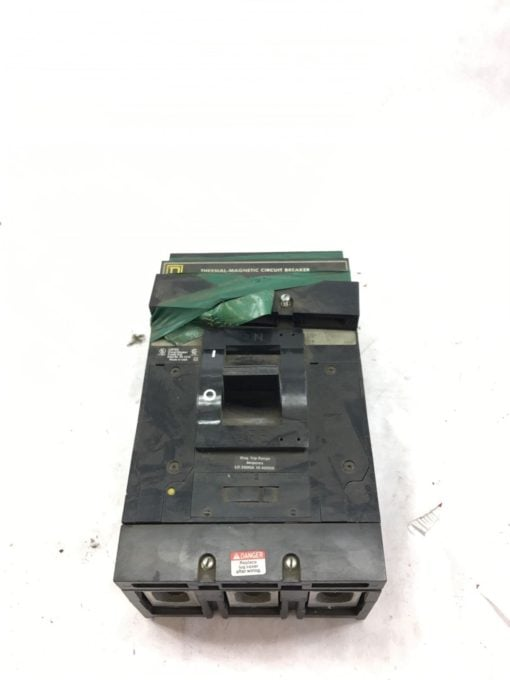 USED Square D LAL36400 Circuit Breaker THERMO MAGNETIC 3 Pole 400A 600VAC B329 1