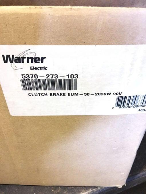NEW IN BOX WARNER ELECTRIC 5370-273-103 CLUTCH BRAKE EUM-50-2030W 90V, (B133) 2