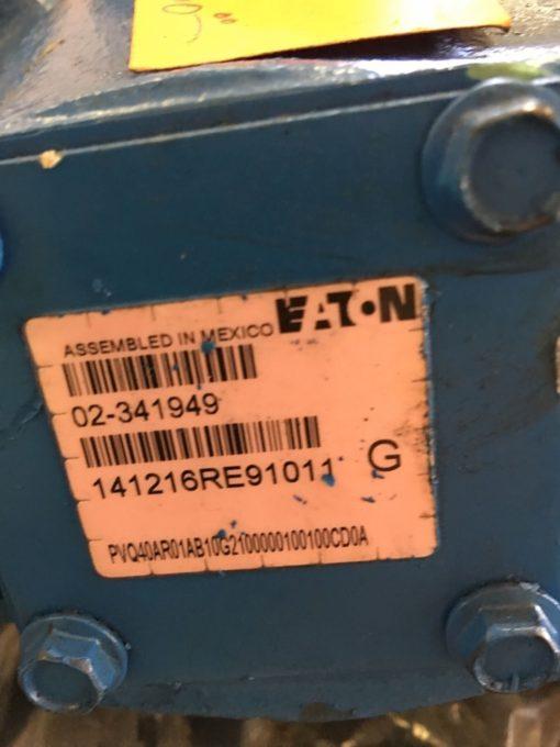 NEW EATON 02-341949 PVQ40AR01AB10G2100000100100CD0A HYDRAULIC PUMP, (HP PT) 2