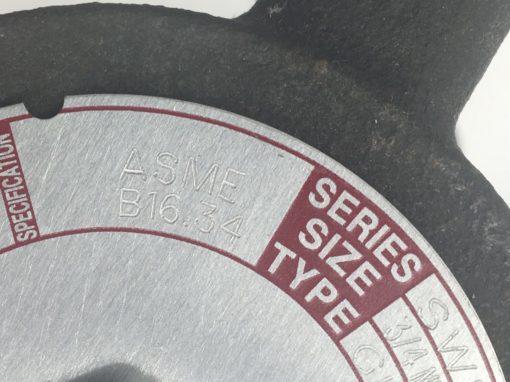 "FLOWSERVE 26801 1"" GLOBE VALVE SWR2510 6700 psi @ 100°F (B456) 5"