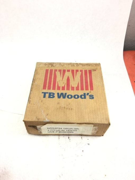 """NEW BROWNING TB WOODS NSS4P24 External Tooth Spur Gear, 4"""" PITCH, 24 TEETH, B114 1"""