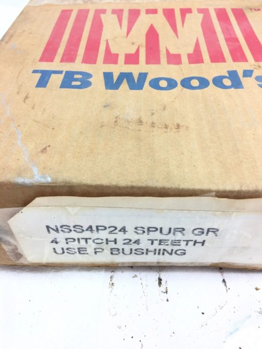 """NEW BROWNING TB WOODS NSS4P24 External Tooth Spur Gear, 4"""" PITCH, 24 TEETH, B114 2"""