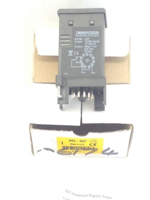 TEMPATRON UNIVERSAL DIGITAL MULTI FUNC TIMER CONTROLLER PANEL-MOUNT 343-997(A769 1
