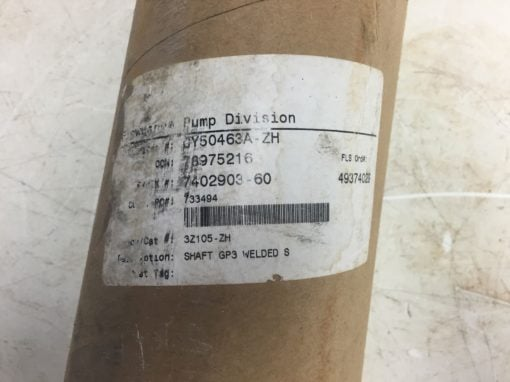 NEW IN PACKAGE Flowserve Pump Division Shaft CY50463A-ZH, Fast Ship! (Belt 34/35 3