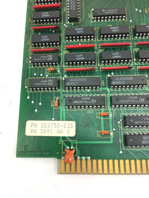 MTS 353750-03D Circuit Board SN 3891- QA- 2 5V PWB D353749-01B USED (H260)   2