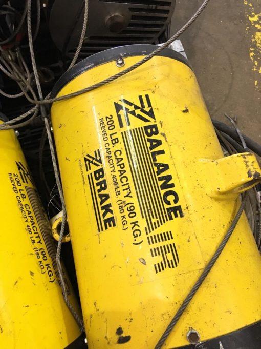 USED ZIMMERMAN BW020120 AIR BALANCING UNIT, 200 LLB POUND CAP AT 100 PSI, (NP10) 1