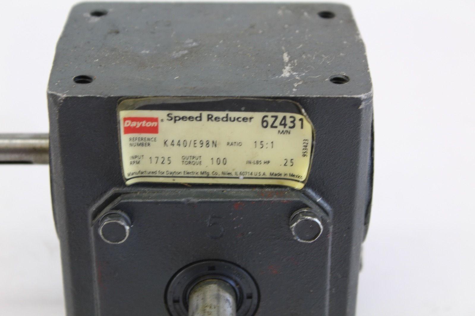 Dayton Speed Reducer 6Z431 15:1 *new* (B272) 2