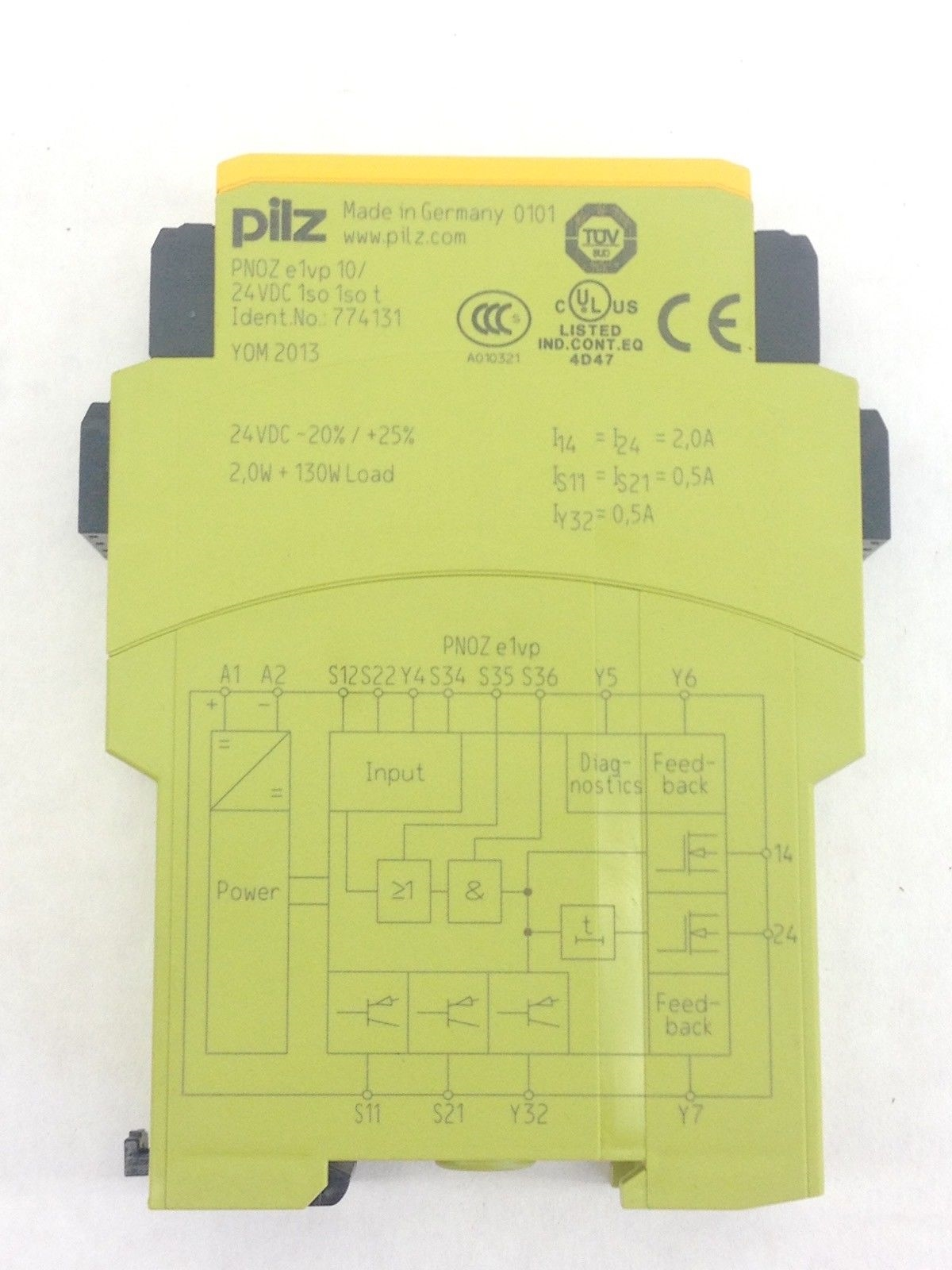 PILZ PNOZE1VP10S SAFETY EMERGENCY STOP RELAY 24VDC (A825) 2
