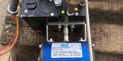 MCF MSR 40 F04 ACTUATOR PMV EP5 ELECTRO PNEUMATIC POSITIONER W/ ASCO 8210G94 1