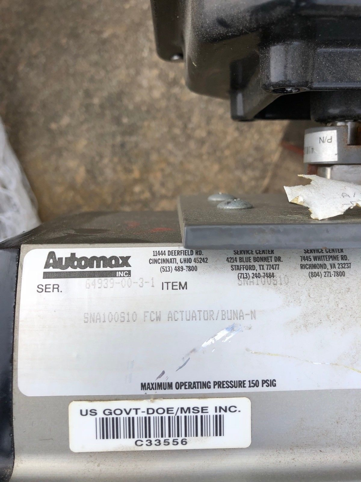 USED AUTOMAX ACTUATOR SNA100S10 4� GATE VALVE AUTOMAX ULTRASWITCH, FAST SHIP! 2