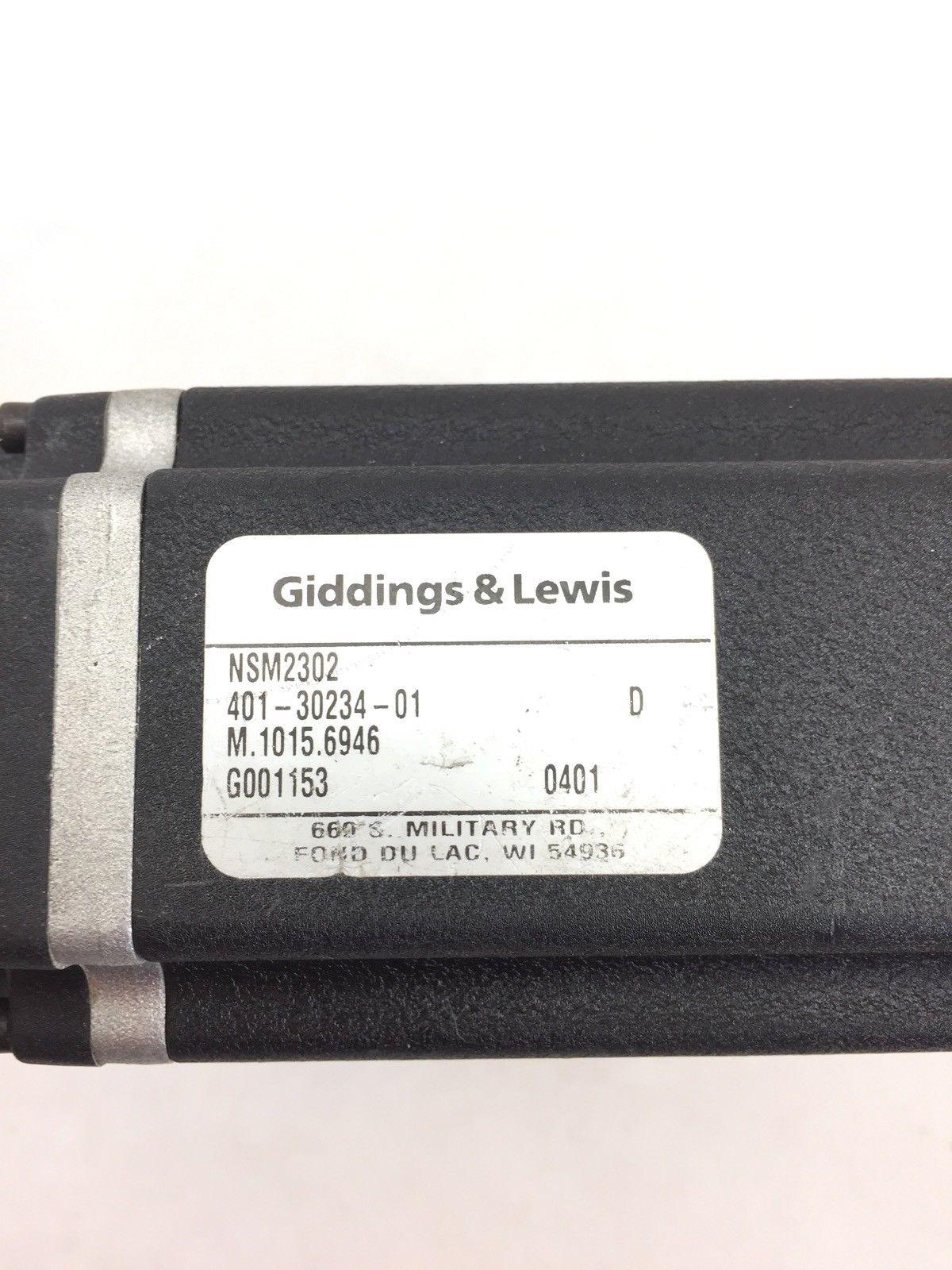 GIDDINGS AND LEWIS MOTOR NSM2302 401-30234-01 (A599) 2