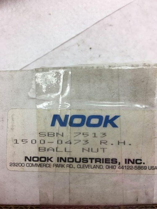 NEW IN BOX NOOK INDUSTRIES SBN7513 BALL NUT 1500-0473 RH, FAST SHIPPING! H267 2