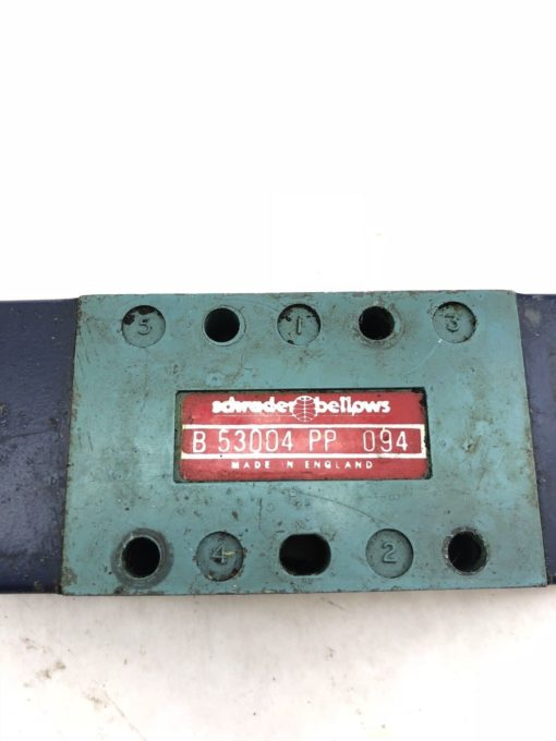 USED SCHRADER BELLOWS PARKER B53004PP VALVE B 53004 PP, FAST SHIP! (A844) 2