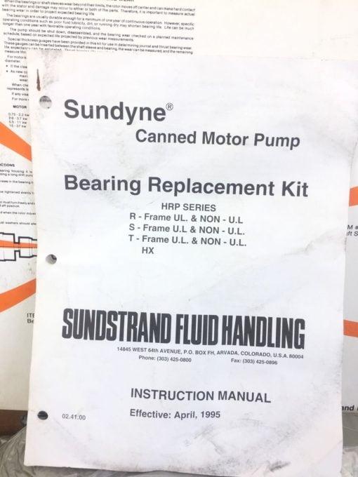NIB! SUNDSTRAND SUNDYNE 2ND DEVO DVLT PUMP SERVICE KIT 412000796 (B61) 5