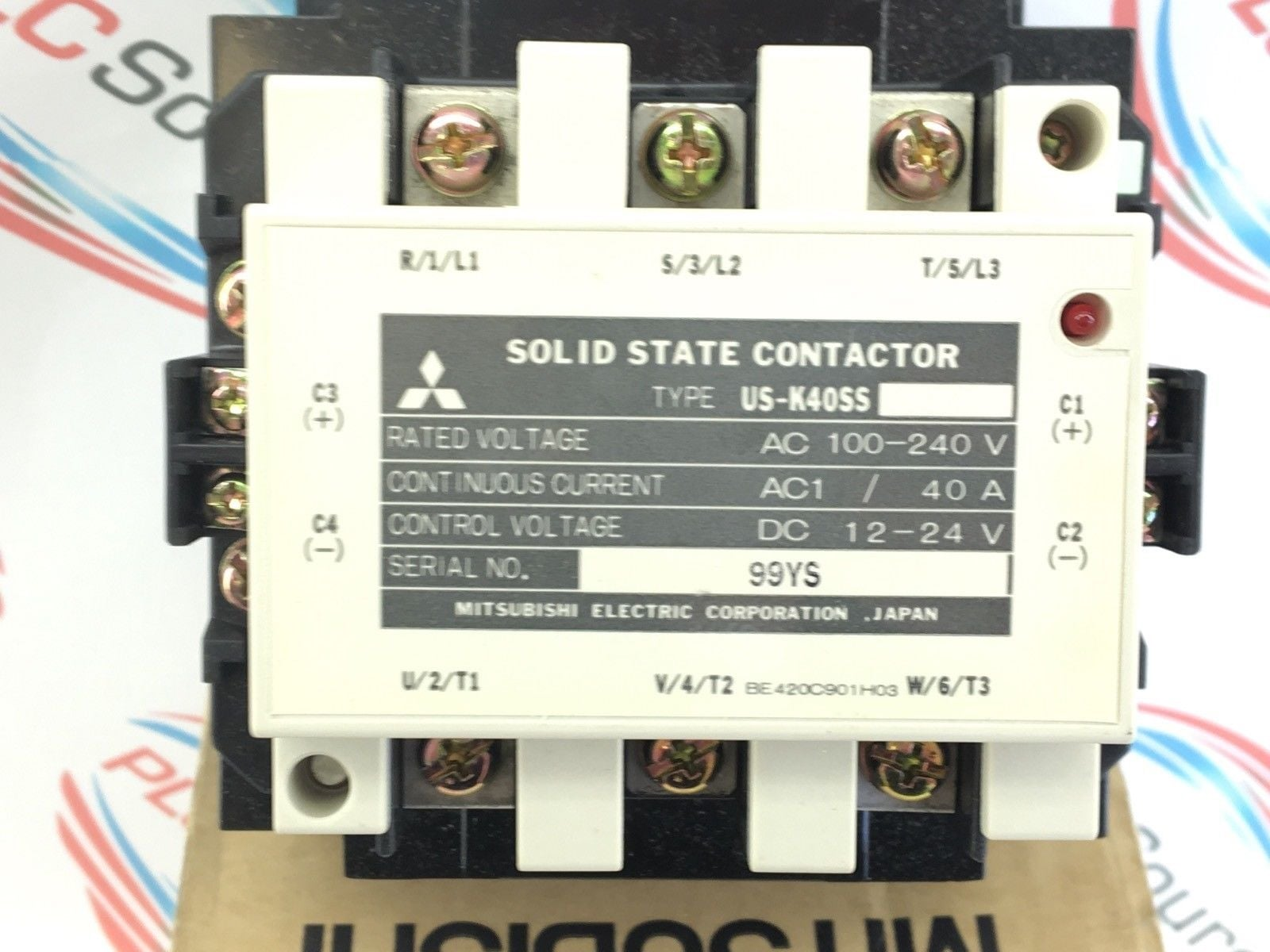 Mitsubishi US-K30SS TE Solid State Contactor 30 Amp 100-240 Volts