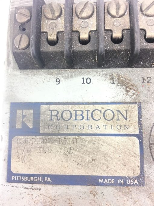 USED GREAT CONDITION ROBICON 359-105 3 PHASE CURRENT LIMIT, FAST SHIPPING! B352 2