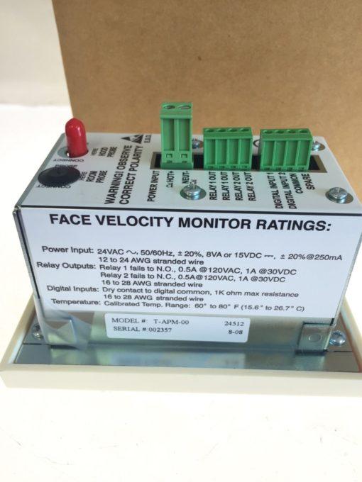 NEW IN BOX TEK-AIR T-APM-00 APEX Premier Mon Standard Face Velocity Monitor B157 2