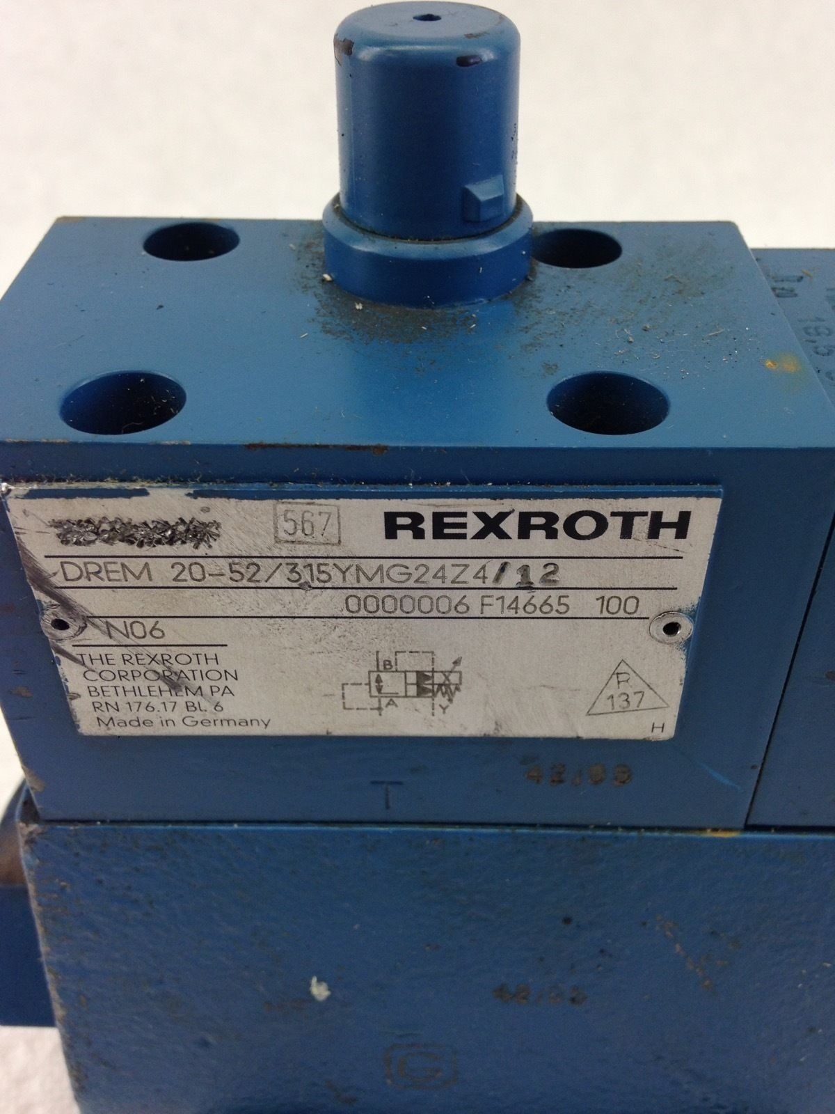 NEW REXROTH SOLENOID VALVE DREM 20-52 315YMG24Z4/12 PRESSURE REDUCING VALVE B387 2