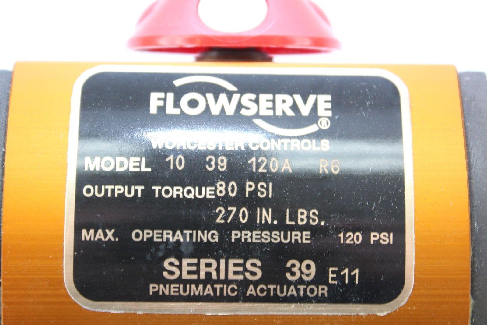 WORCESTER CONTROL FLOWSERVE 39-10 PNEUMATIC ACTUATOR 80-PSI 120A 270″/# NIB(B242 1