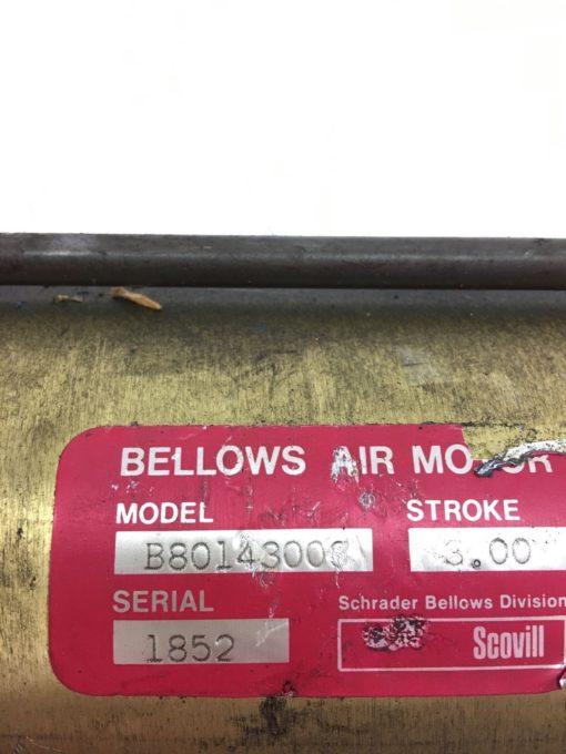 NEW SCHRADER BELLOWS B80143003 B8014-3003 SCOVILL AIR MOTOR, 3