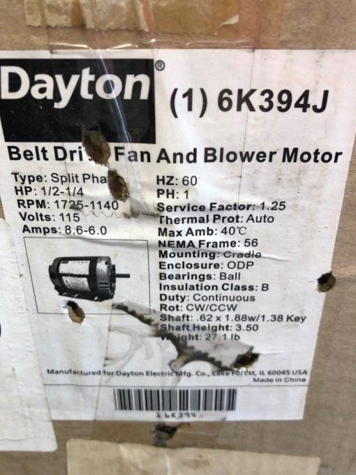 NEW IN BOX DAYTON 6K394J BELT DRIVE FAN AND BLOWER MOTOR SPLIT PHASE (B452) 1